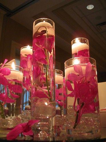 centro de mesa flowers Pinterest Centros de mesa, Centro y Mesas - centros de mesa para boda con velas flotantes