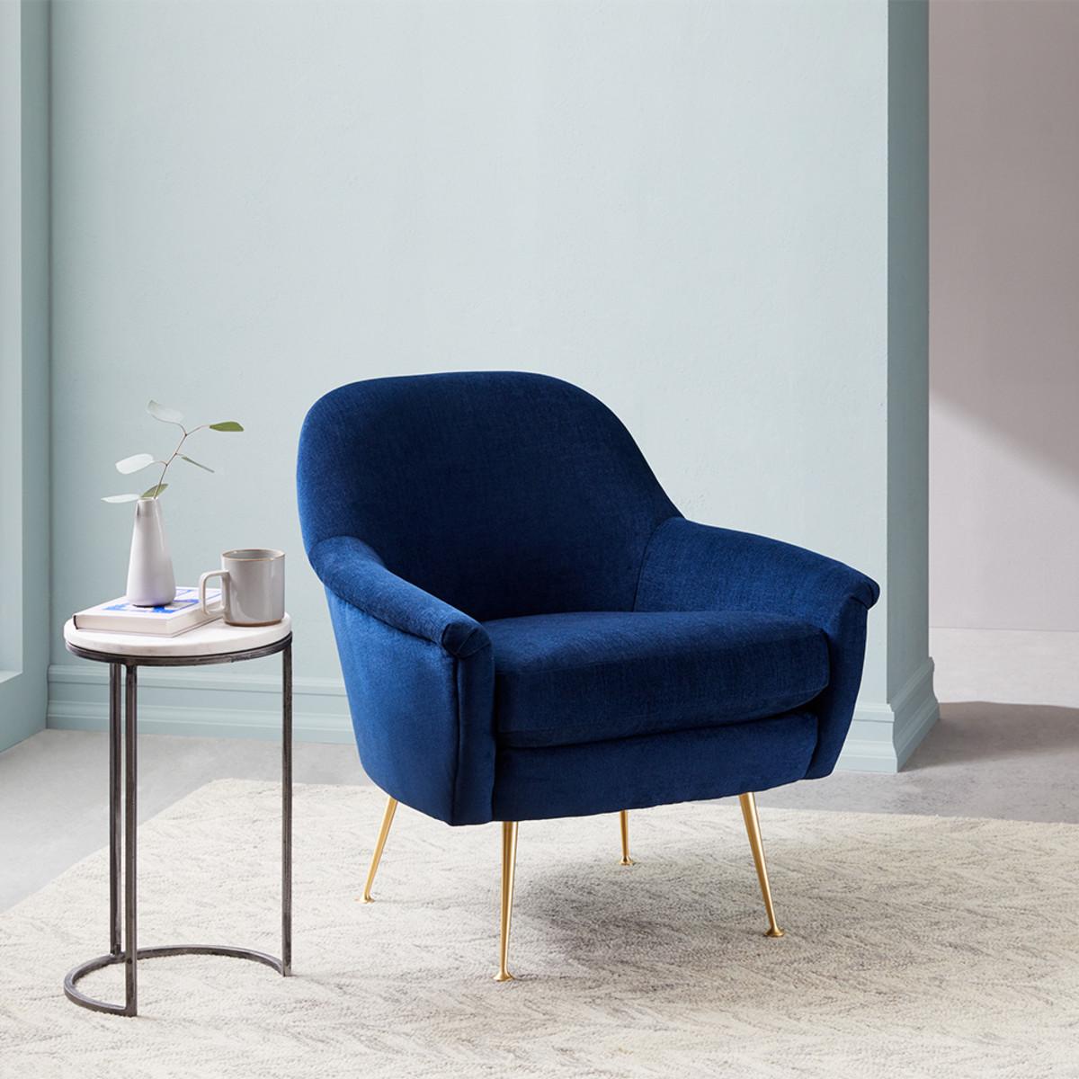 Phoebe Chair Ink Blue West Elm Australia Comfy Office Chair