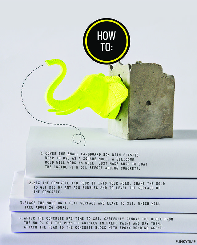 Diy Concrete And Plastic Animal Bookends Tutorial With Images Animal Bookends Plastic Animals Concrete Diy