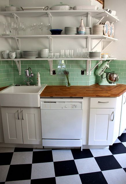 Retro Kitchen Tile Backsplash Vinyl Flooring For Reveal Houses Bungalow Modern Home Diy Perfect Our Small Just Picked Out The Same Tiles