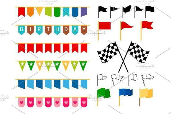 Flag and garlands for invitation card Invitation card design - best of invitation card vector art