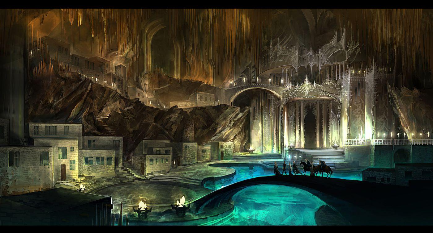 Underground City By Anndr Deviantart Com On Deviantart Fantasy