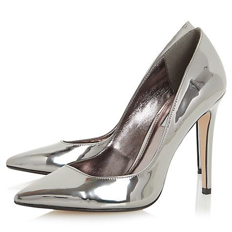8bcaa7674152 Dune Aiyana Pointed Toe Court Shoes – Pewter Metallic – Its All About Girls