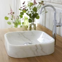 Photo of Washbasin in white Perseus marble