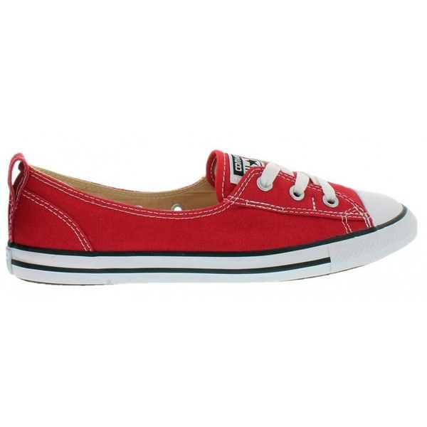 Flat lace up shoes, Red ballet shoes