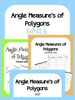 Measuring Angles of Polygons Bundle | Geometry ISN