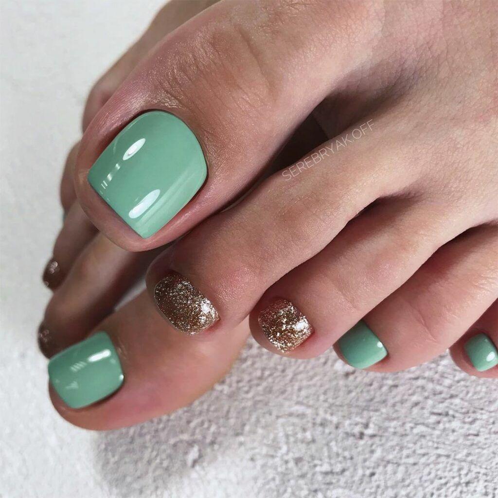Toe Nail Colors Amazing Designs Light Green Glitter Dip Powder Toe Nail Color Toe Nail Designs Toe Nails