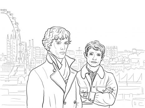 Sherlock BBC Coloring Page From Holmes Category Select 27197 Printable Crafts Of Cartoons Nature Animals Bible And Many More