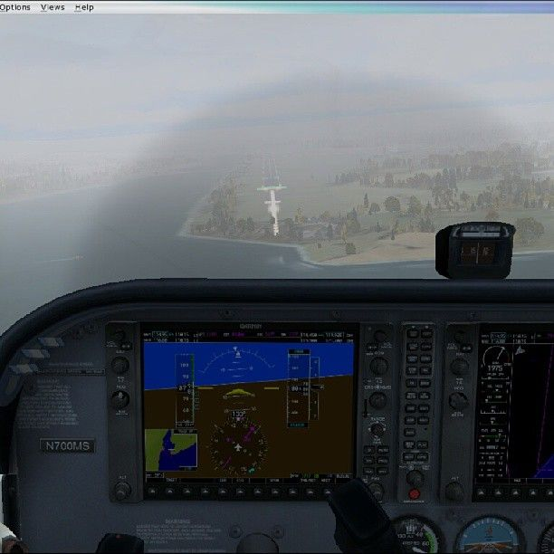 Foggy flight into the northern part of France with a Cessna 172 #fsx