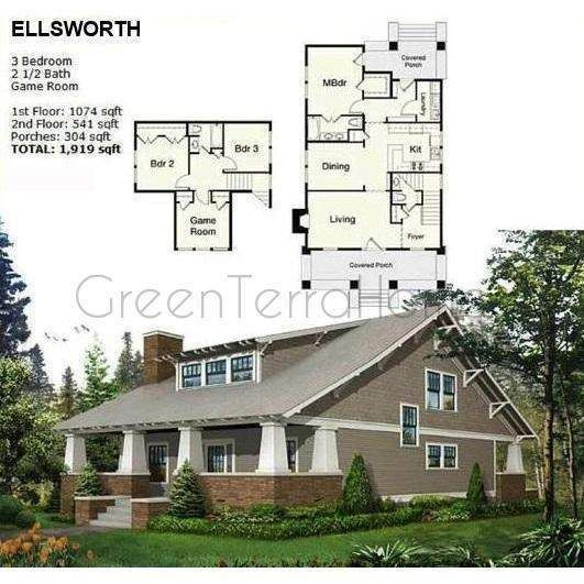 Prefab home kit 4br 2.5ba 1919sf the ellsworth ns2850 modern prefab ...