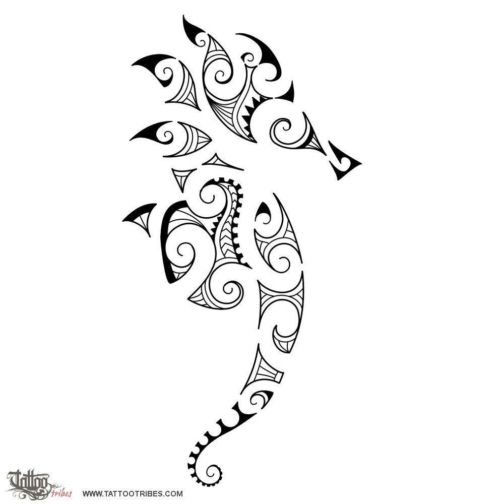 Tribal seahorse tatts pinterest seahorses tattoo for Cavalluccio marino maori