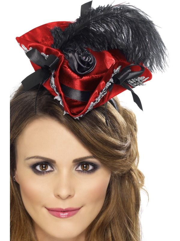 83261e0fa20 Mini Pirate Hat Costume Headband Adult  Red   Black (Size  One Size) -   6.81  galaxorstore  hat  costumes  shopping