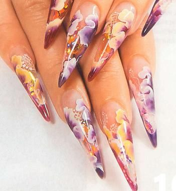 Nail designs for long nails