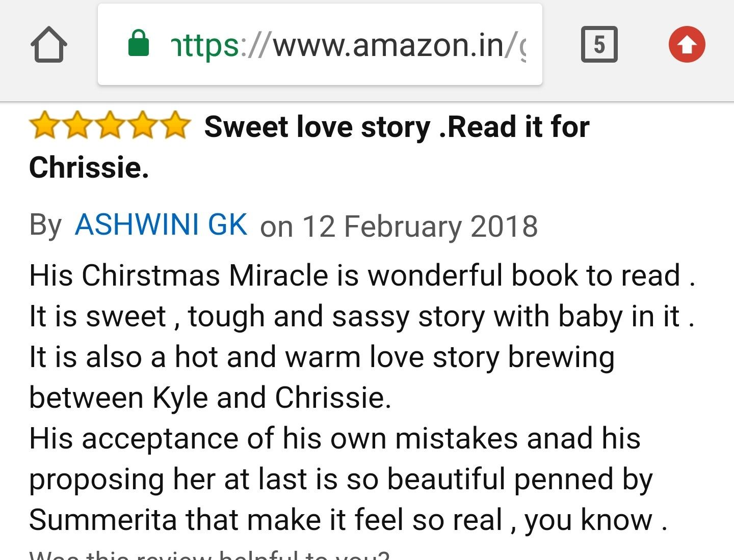 A lovely #review for His Christmas Miracle #newrelease at #Amazon ...
