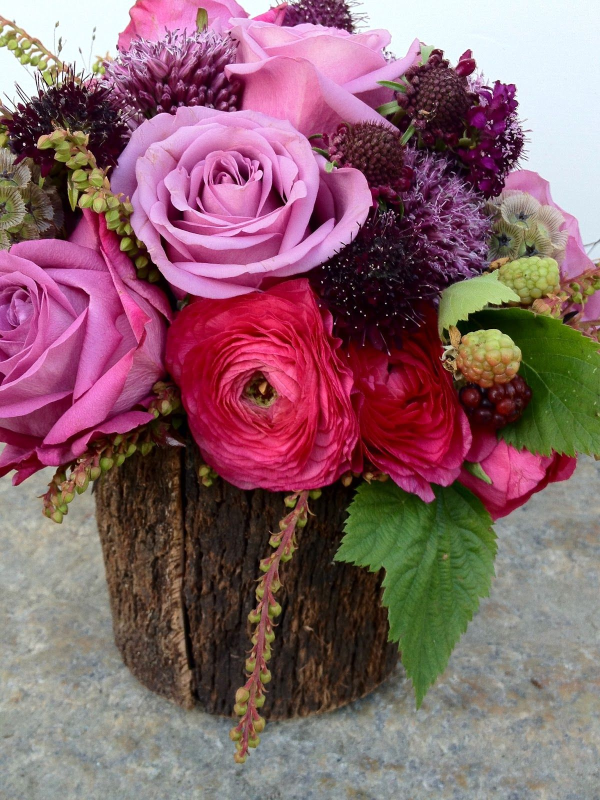 Radiant orchid infused arrangement by soiree floral