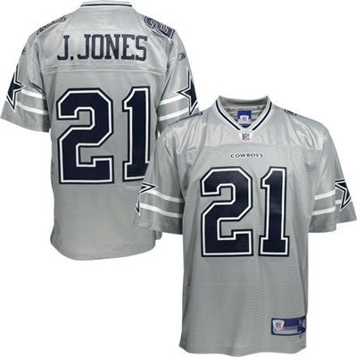 watch 76e59 a92d9 Reebok Dallas Cowboys #21 Julius Jones Silver Alternate ...