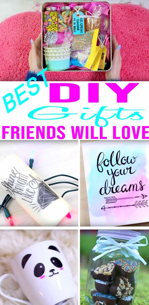 Best Diy Gifts For Friends Easy Cheap Gift Ideas To Make For Birthdays Christm In 2020 Diy Christmas Gifts For Friends Diy Gifts For Friends Cheap Christmas Gifts