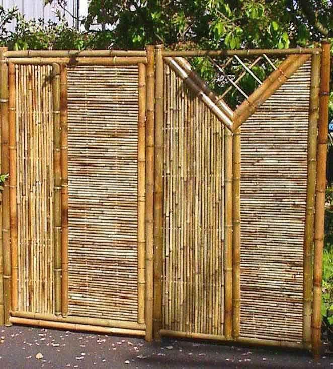 Framed Bamboo Panel Bamboo Fence Fence Design Fence Panels