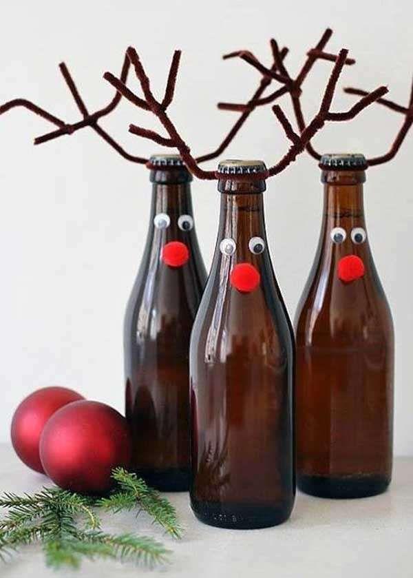 Roiz Simpatiche Decorazioni per Feste in Maglione di Natale con Bottiglie di Vino