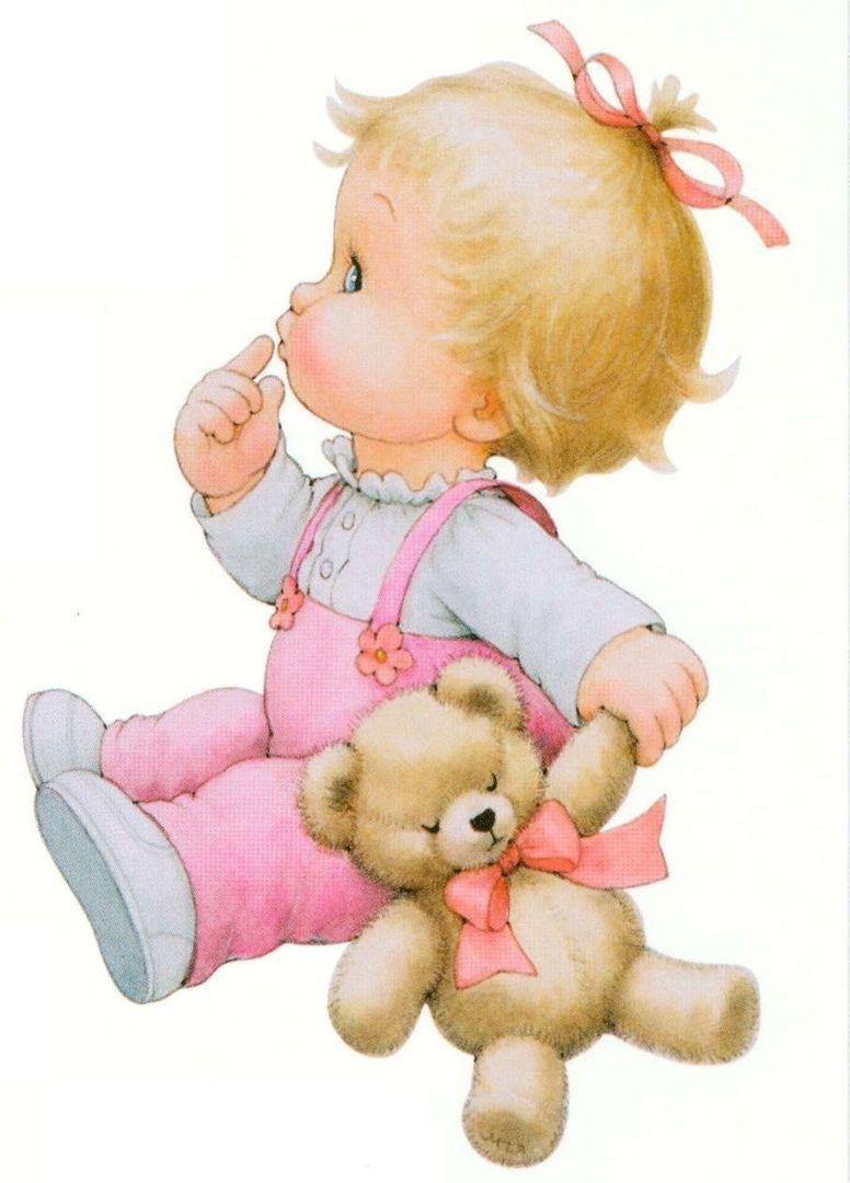 Открытки для малышек девочек, картинки