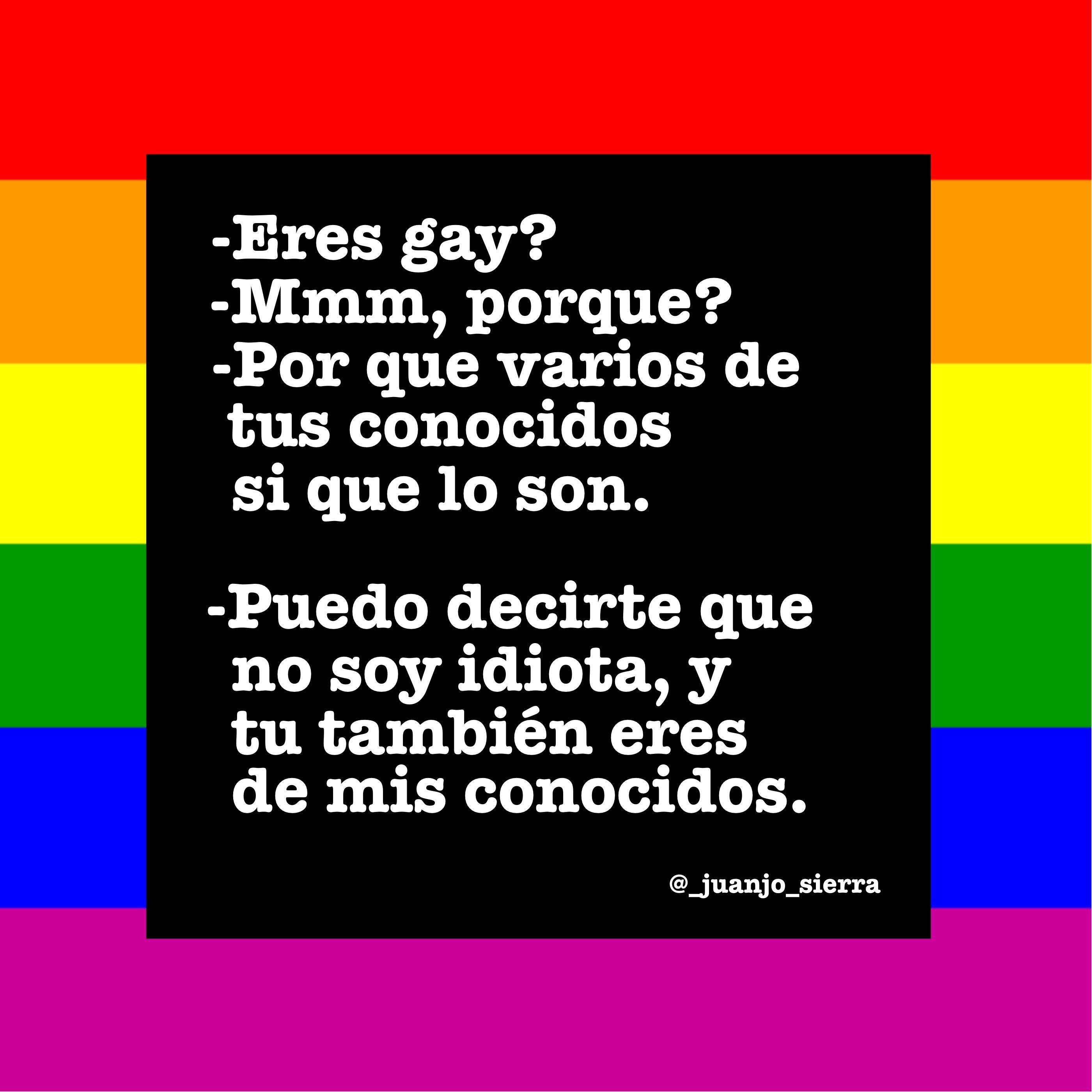 que eres gay en ingles