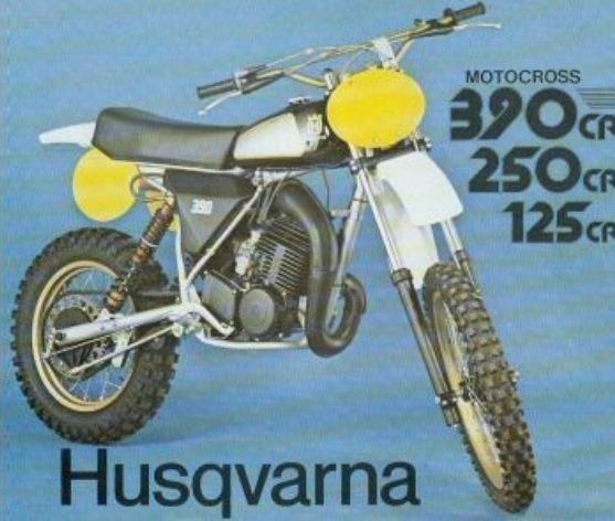 1981 Husqvarna Brochure Motocross Bikes Dirt Bikes For Kids Vintage Motocross