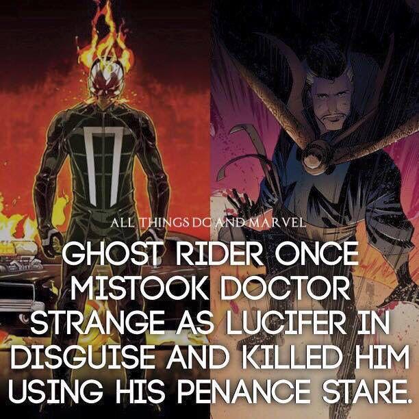 Ghost Rider & Doctor Strange Fact