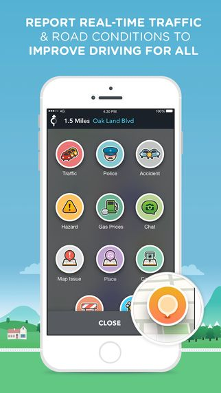 Waze GPS, Maps & Social Traffic by Waze Inc. (With