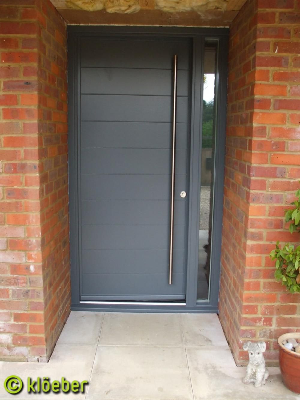 Modern front door kloeber funkyfront see the euro range for Contemporary front doors