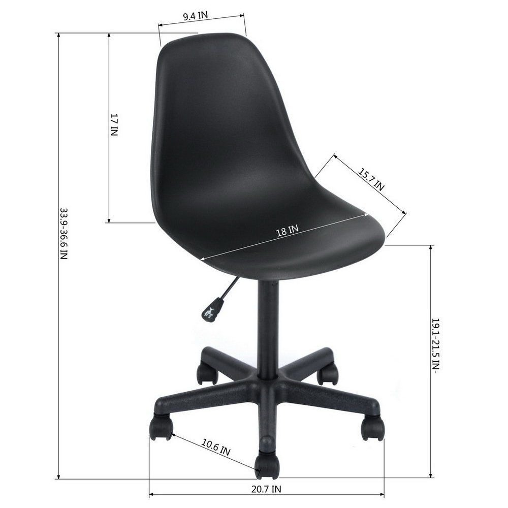 Eggree Midback Home Office Desk Chair Modern Adjustable Plastic Executive Conference Chair Reception Desk Reception Desk Chairs Modern Chairs Office Desk Chair