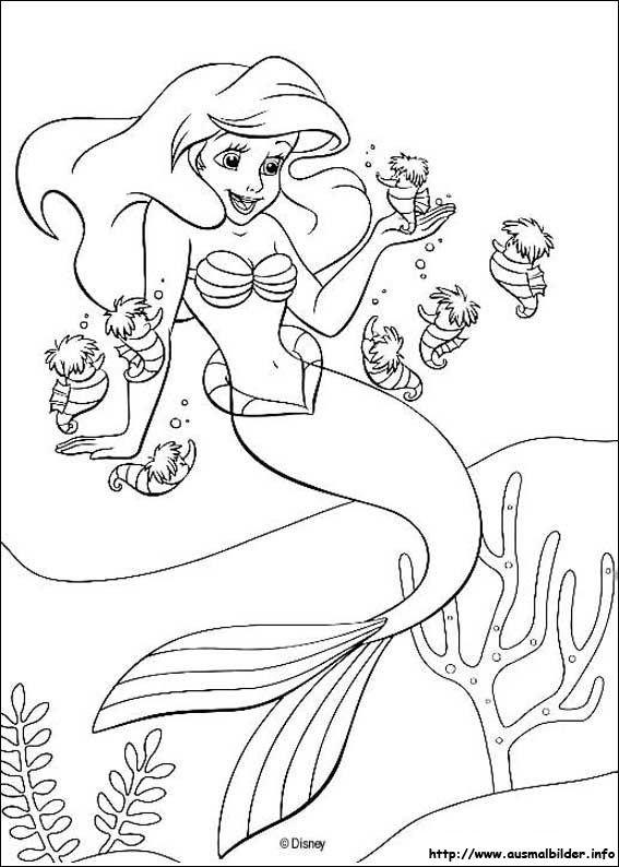 Ausmalbilder Meerjungfrau Zeichnung Mermaid Coloring Pages