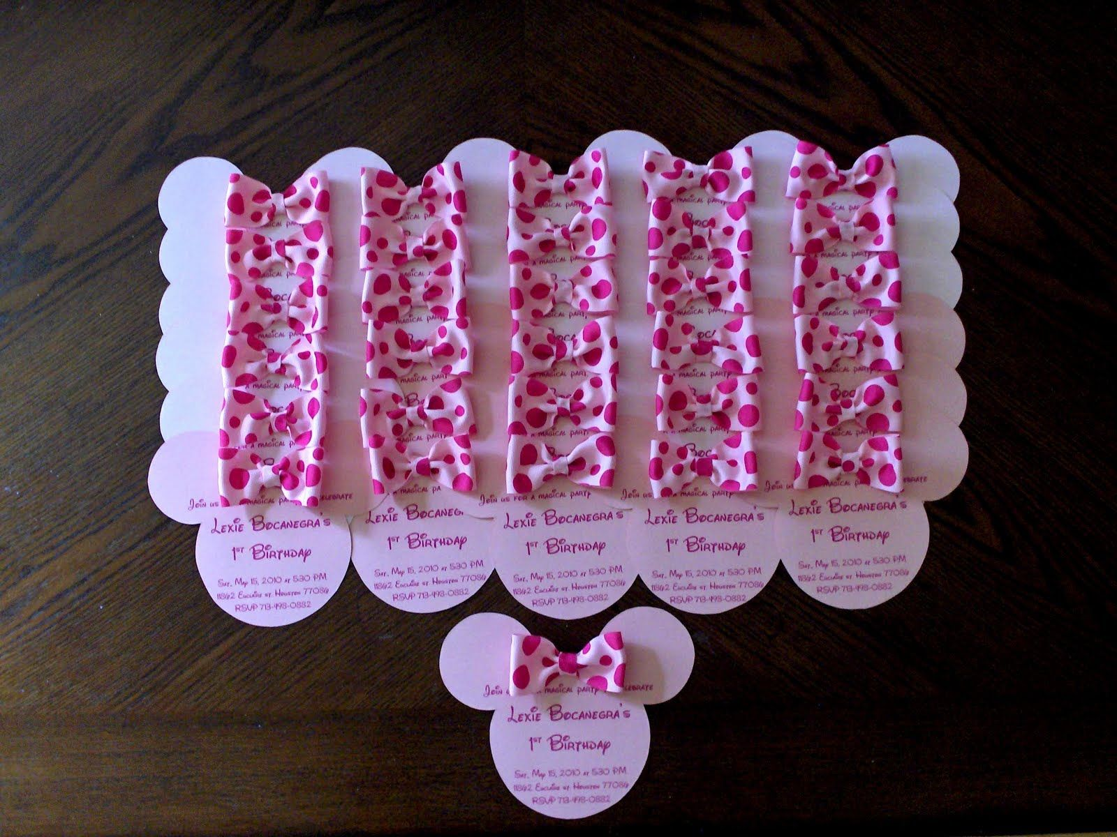 unique homemade baby shower invitation ideas%0A minnie mouse birthday   Baby minnie mouse birthday party invitation  mickey  minnie babies   st