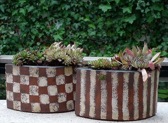 garten keramik pflanzgefaesse von margit hohenberger. Black Bedroom Furniture Sets. Home Design Ideas