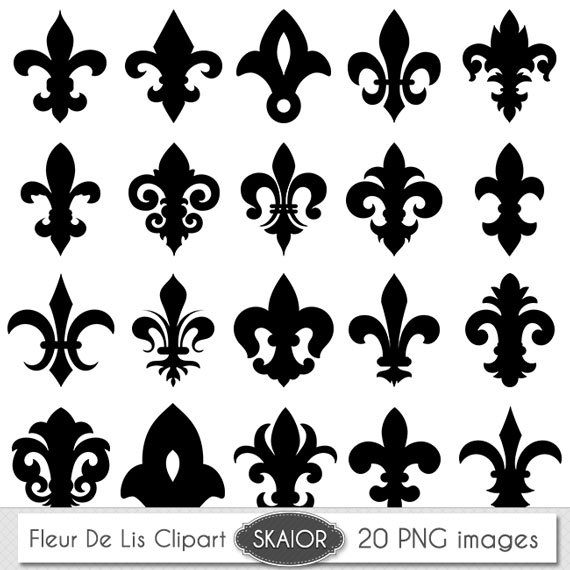 Fleur De Lis Clipart Vector Fleur De Lis Digital Scrapbooking
