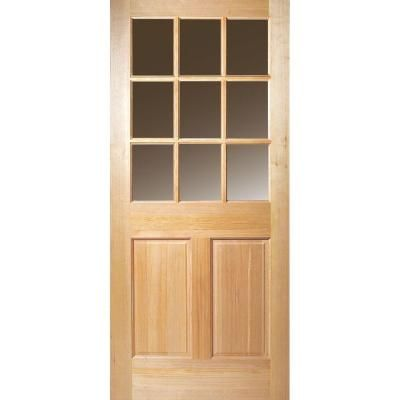 Masonite 9 Lite Unfinished Fir Slab Entry Door 87315 The Home Depot Wood Exterior Door Entry Doors Exterior Doors