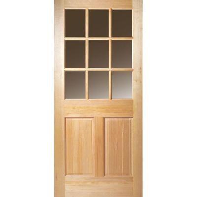 Masonite 9 Lite Unfinished Fir Slab Entry Door 87315 The Home Depot Wood Exterior Door Entry Doors Wood Entry Doors