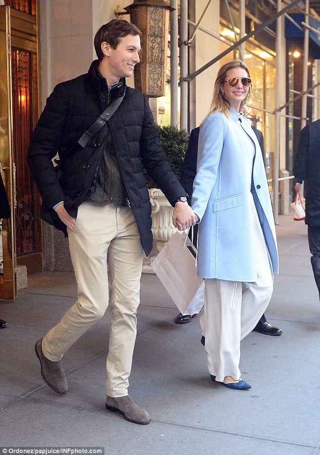 Ivanka Trump is beaming as she leaves her apartment with husband