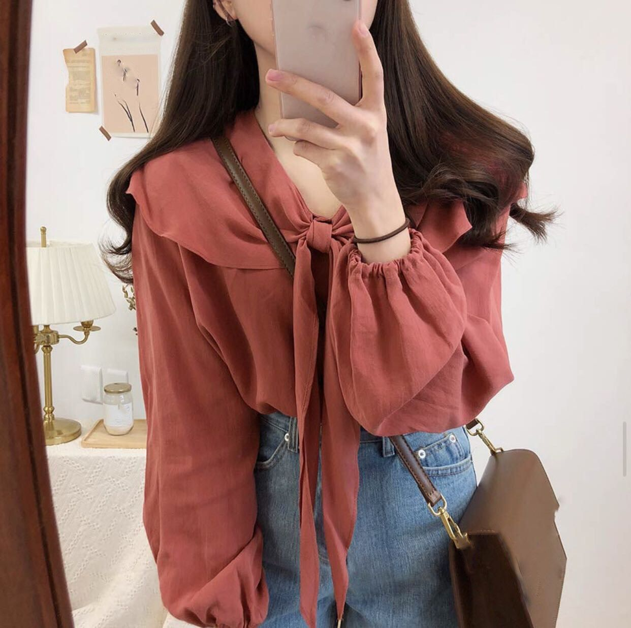 US $16.95 |2019 Korean Style Women Bow Tie Knot Tops Casual Cute Beach Shirt Vintage Sweet Party Blouse|Blouses & Shirts|   - AliExpress