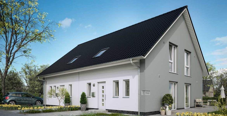 Graue Fassade v häuser v4 fassade pur weiß grau eingang fassade