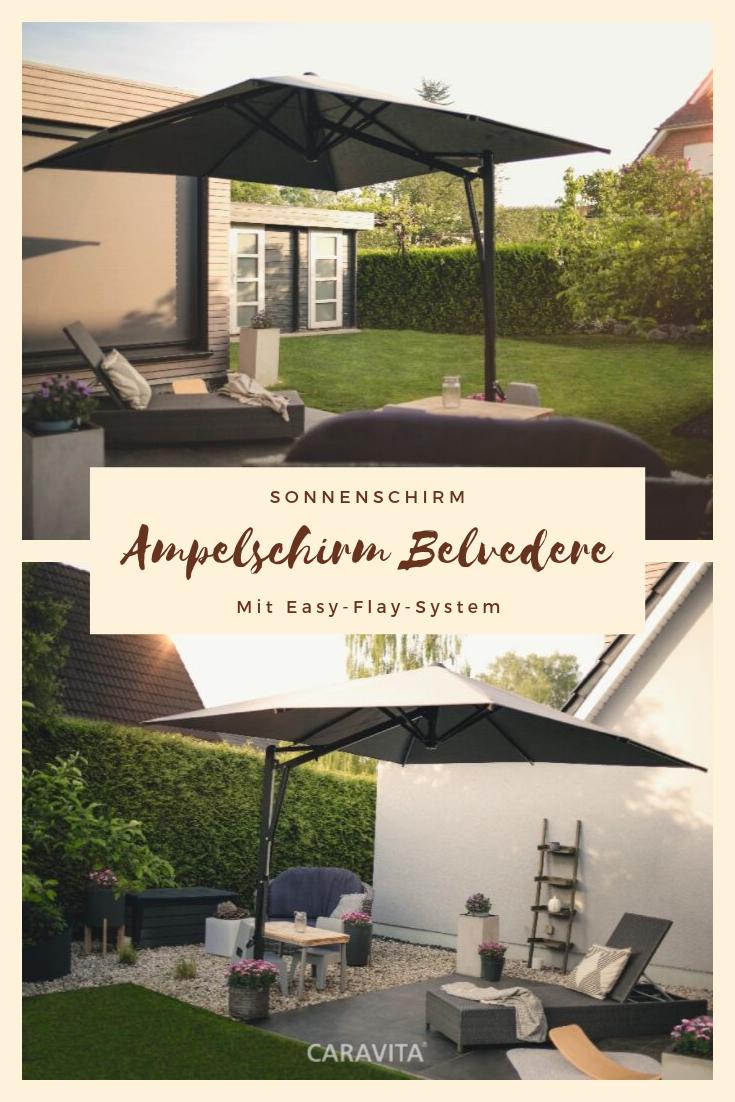 Sonnenschirm Belvedere Ein Traum Fur Garten Und Terrasse Sonnenschirm Sonnenschirm Ampelschirm Schirm