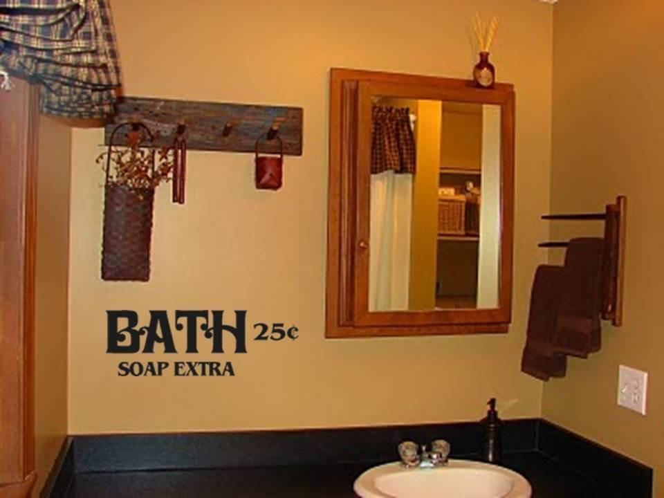 Details About Bath Soap Extra Primitive Bathroom Decor