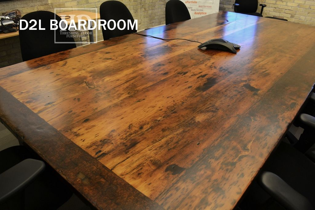 Reclaimed Wood Boardroom Table Ontario Barn Wood Construction Modern Premium Epoxy Matte Polyurethane Finish Posted By Gerald Rein Barn Wood Wood Construction Table