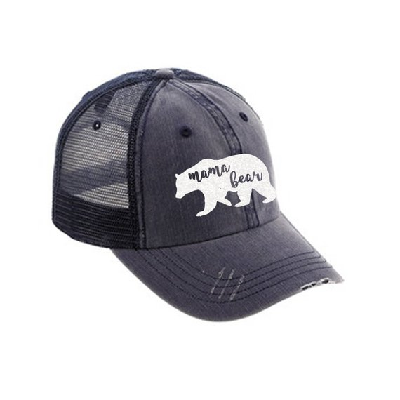 28e56bb2437 Mama Bear Distressed Ladies Baseball Hat