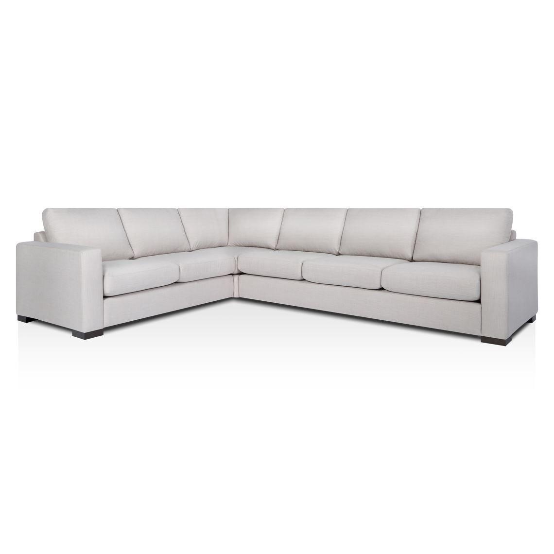 SIGNATURE CONTEMPORARY 6 Seat Fabric Corner Sofa With Left