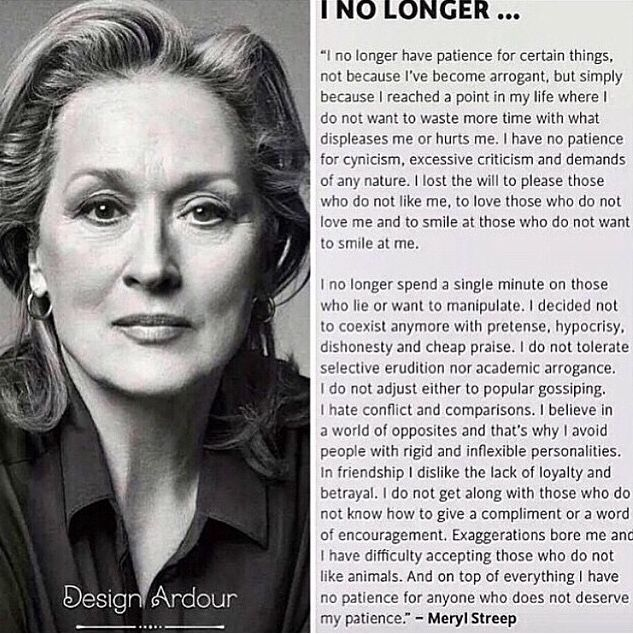 Amazing words from Meryl.