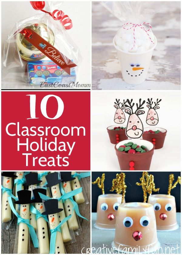 Are You Planning The Classroom Holiday Party Here Some Great Ideas For Christmas Treats Kids Will Love