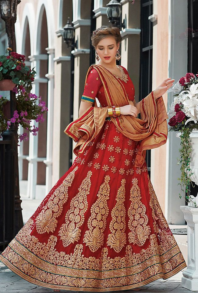 a27b9674b5 Lovely #Red Lehenga Choli Set | Indian Designer Lehenga Cholis ...