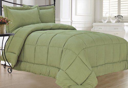 Sage Down Alternative Comforter Set Full Queen By Kinglinen
