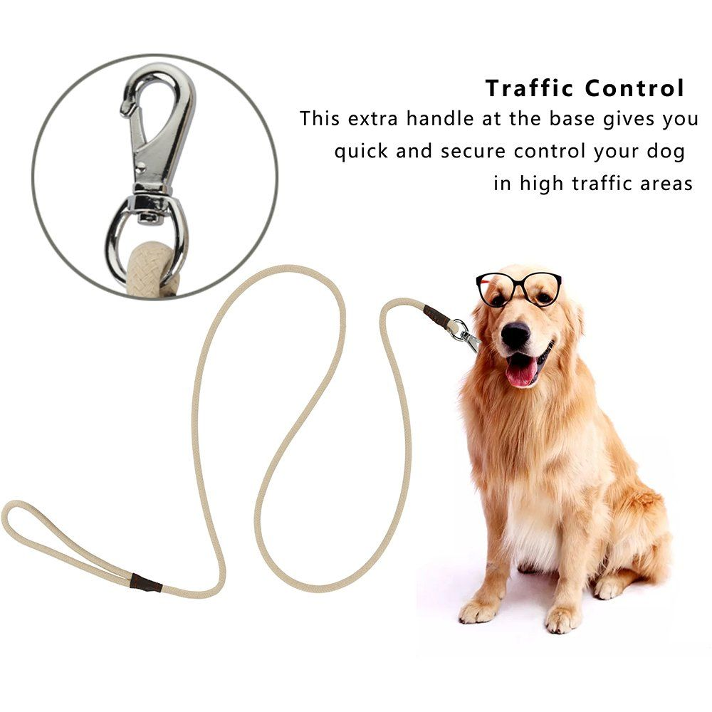 Peppet Pet Supply Cotton Training Leashes Rope Pet Supply Dog