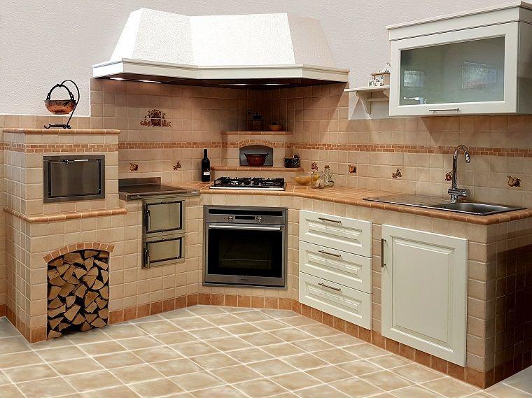 Cucina In Muratura Con Forno A Legna.Cucina In Muratura Forno Legna Nel 2019 Cucina In Muratura